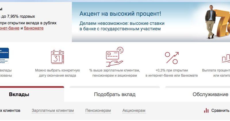 ВТБ Банк Москвы вклады 2017